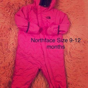 Northface infant snowsuit size 9-12 months